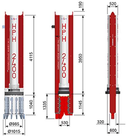 Hydraulic Piling Hammers - HPH2400e