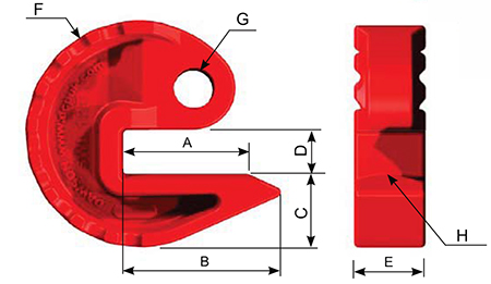 Pipe Shoe Dimensions