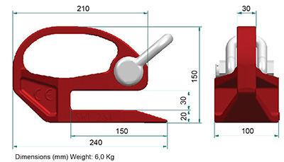 Lifting Shoe Dimensions
