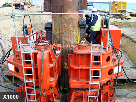 Sheet Pile Extractor Gallery